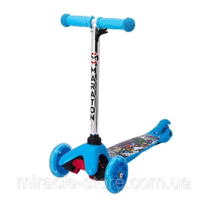 Дитячий самокат MINI для хлопчиків від 2-х років Світяться колеса Різні мультицвета 038В