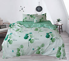 Семейный комплект постельного белья сатин люкс с компаньоном S450