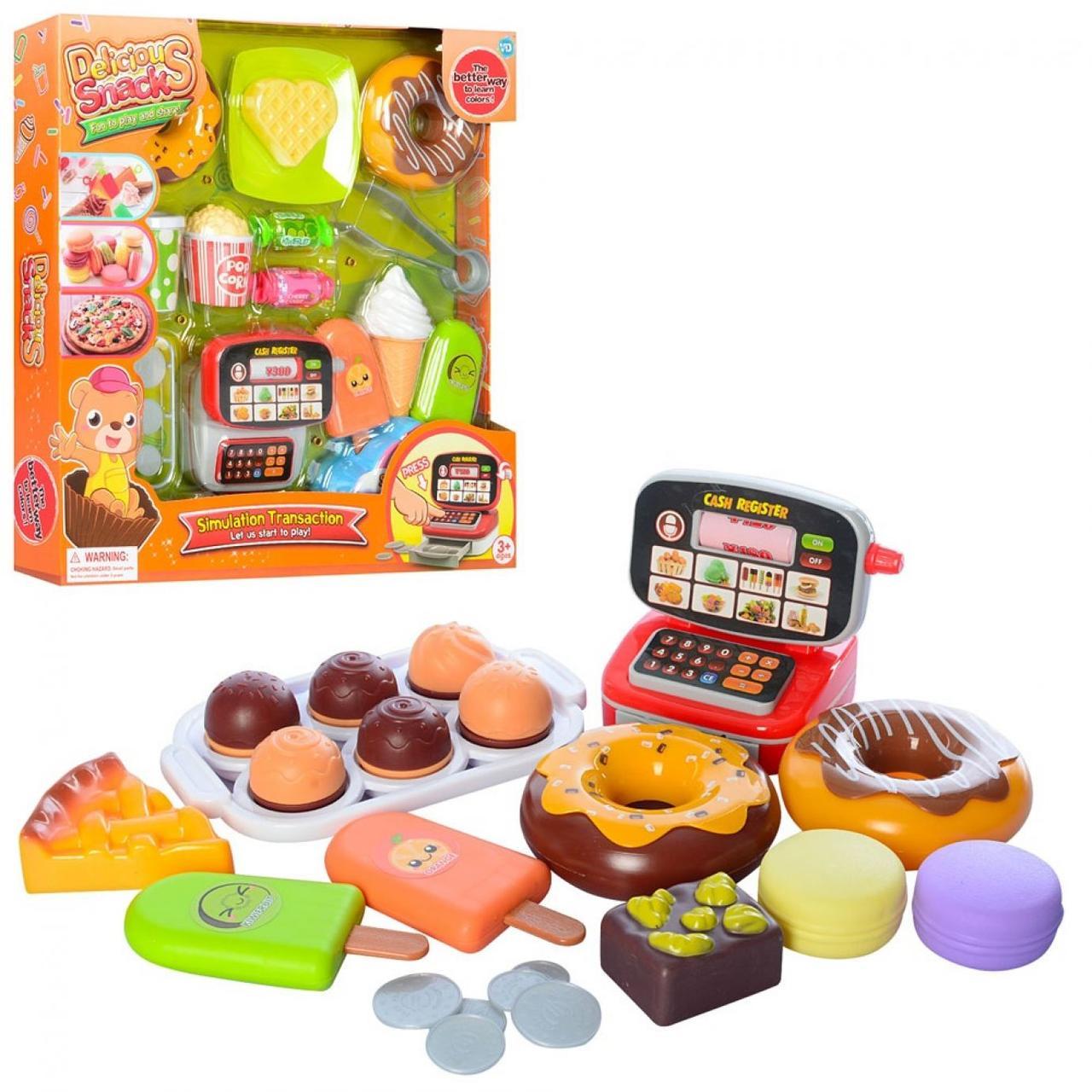 Продукти,солодощі,касовий апарат,монети,в кор-ці,34х33,5х5,5см,2 види №WD-S10-14(24)