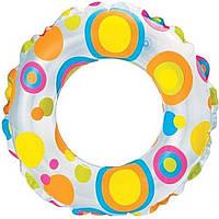 Надувной круг 59230 51см 3-6 лет, 3 вида, цветной в кульке 23х15,5см