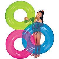 Надувной круг 59260 76см однотонный 3 цвета в кульке 23,5х15см