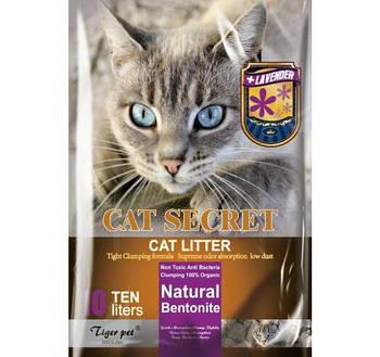 Бентонитовый наполнитель CAT SECRET c ароматом лаванды 5 литров