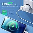 Універсальний зарядний пристрій UGREEN CD137 USB-C 20 вт Power Delivery 3.0 Qualcomm Quick Charge 4.0 White, фото 3