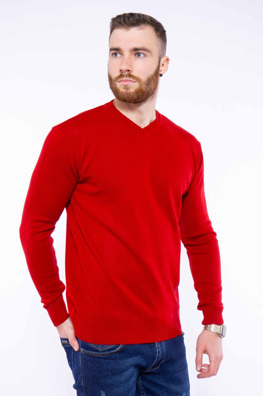 Джемпер однотонный 606F001 (Красный)