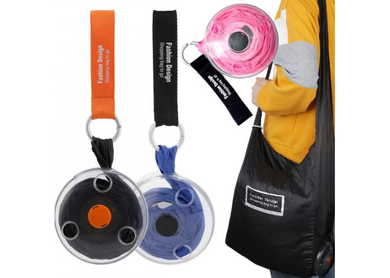 Складная компактная сумка-шоппер Shopping Bag To Roll Up