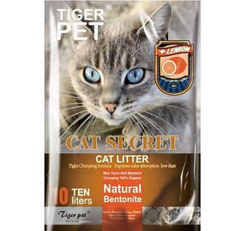 Бентонитовый наполнитель CAT SECRET c ароматом лимона 5 литров