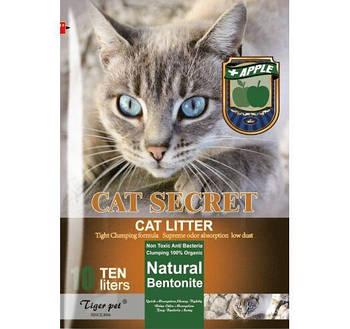 Бентонитовый наполнитель CAT SECRET c ароматом яблоко 5 литров