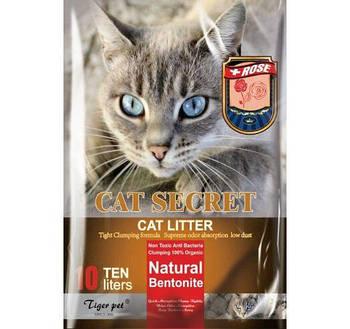 Бентонитовый наполнитель CAT SECRET c ароматом троянцы 5 литров