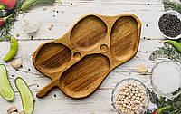 Дерев'яна дошка для подачі блюд, 45х25