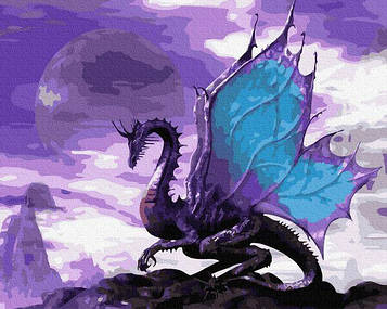 Картины по номерам 40х50 см Brushme Небесный дракон (GX 36213)