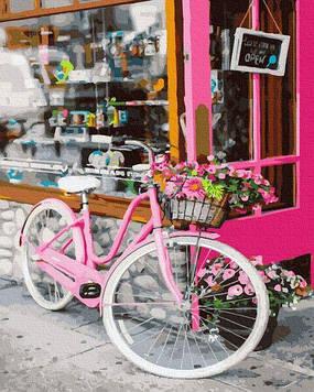 Картины по номерам 40х50 см Brushme Велосипед на улице Парижа (GX 35694)