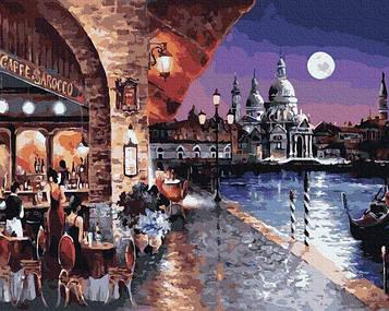 Картины по номерам 40х50 см Brushme Вечернее кафе Венеции (GX 35720 )