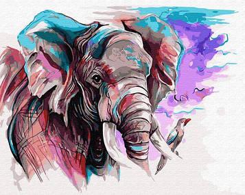 Картины по номерам 40х50 см Brushme Слон акварелью (GX 31983)