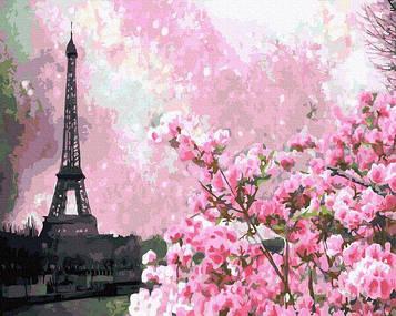 Картины по номерам 40х50 см Brushme Цветение сакуры в Париже (GX 32651)