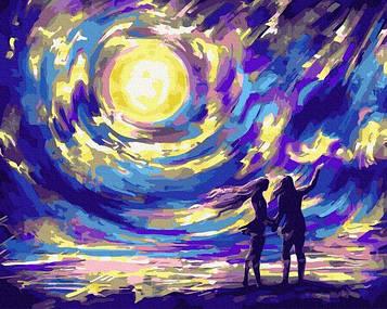 Картины по номерам 40х50 см Brushme Звездная ночь для влюбленных (GX 34103)