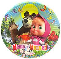 """Тарелки """"Маша и Медведь"""". Размер: 18см. В упак: 10шт."""