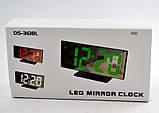 Настільні годинники з зеленою підсвіткою DS-3618L, фото 4