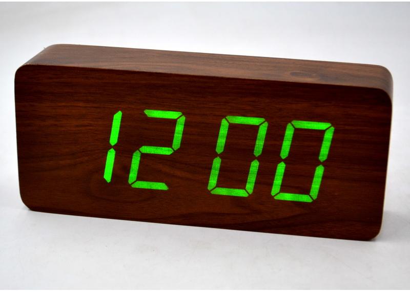 Настольные часы с зеленой подсветкой VST-865-4