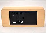 Настільні годинники з зеленою підсвіткою VST-865-4, фото 2