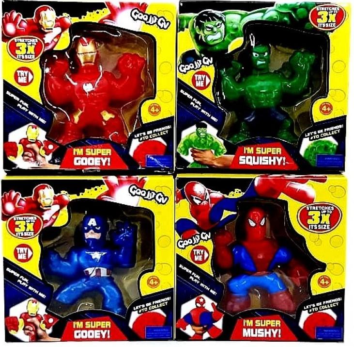 Гуджитсу резиновая игрушка тянучка герои Марвел фигурка Goojitzu супергерои( Spider-Man, Marvel Heroes)