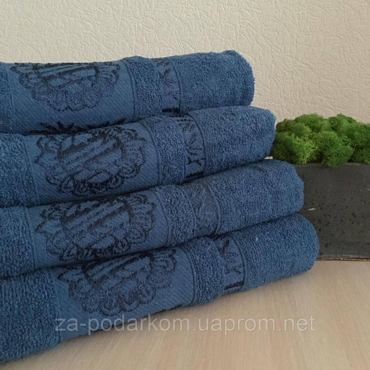 Полотенце банное Бамбук 140x70cm (300г/м2) синее