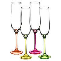 Бокал для шампанского Bohemia Neon, 190 мл (уп 4 шт)