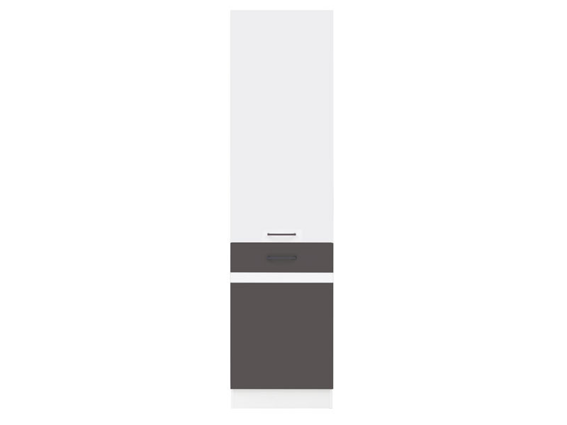 Шкаф правый D2D/50/195P Junona Line BRW белый/серый вольфрам