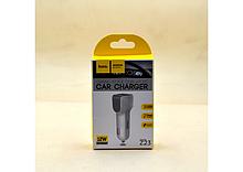 Автомобільний зарядний пристрій hoco. Z23 (2.4 A / 2 USB порту + кабель MicroUSB)