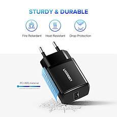 Універсальний зарядний пристрій USB UGREEN ED011 10.5 Вт 5V/2.1 A Black, фото 3