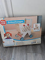 Деревяний возик іграшка play tive дитячий візок для покупок playtive