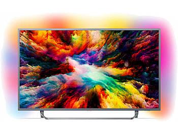 Телевизор Philips65PUS7304/12(65 дюймов / 1700 PPI /PMR 60Гц /Ultra HD /Smart /Wi-Fi /DVB-T2/S2) - Уценка