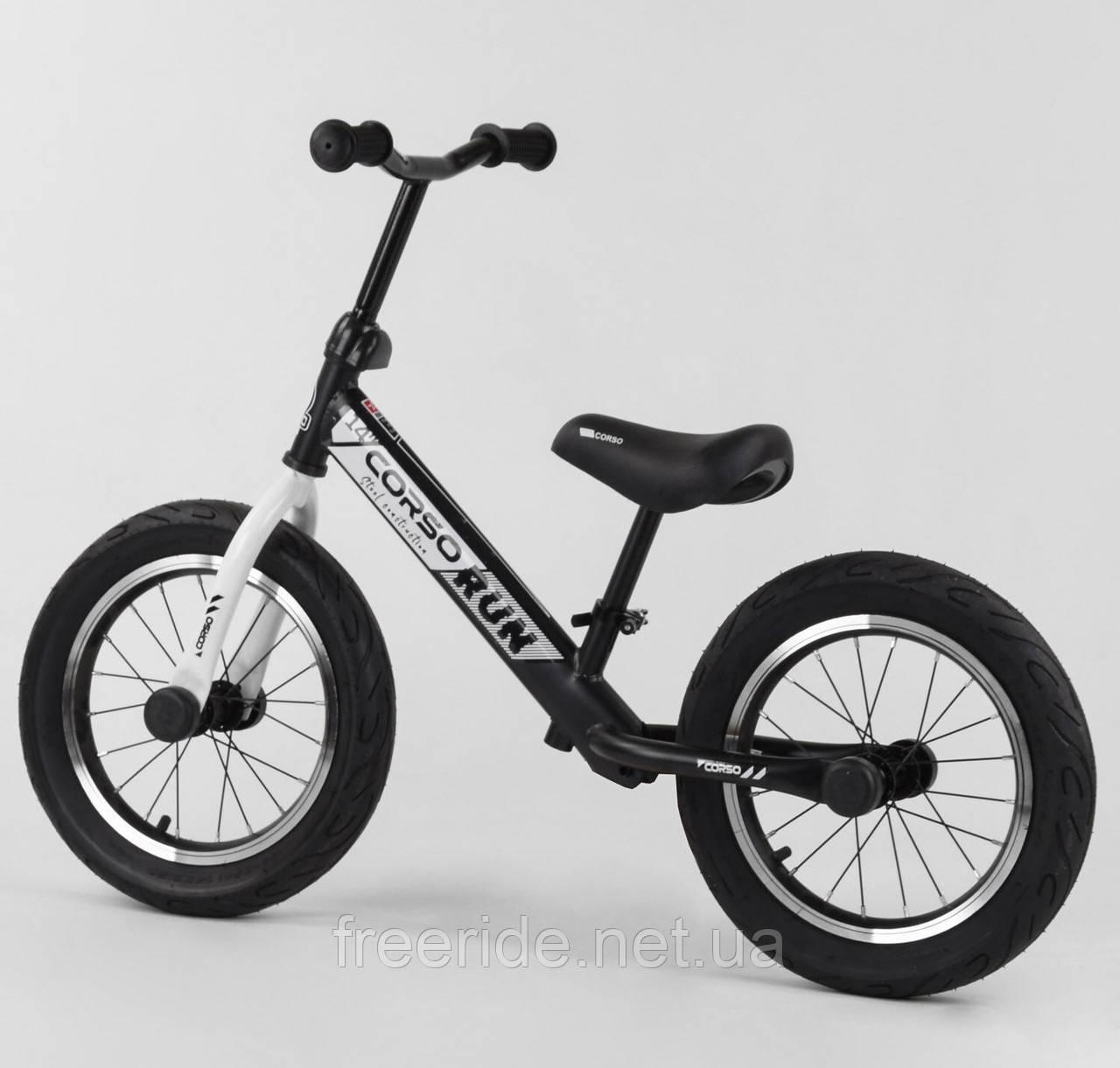 """Велобіг від CORSO Run 14"""" сталева рама, колеса надувні гумові"""