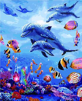 Алмазна картина + картина за номерами Підводний світ (GZS1153) 40 х 50 см (Без коробки)