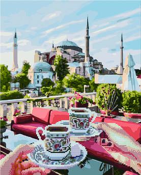 Алмазна картина + картина за номерами Чаювання в Стамбулі (GZS1150) 40 х 50 см (Без коробки)