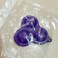 Антистресс POP IT Брелок Пупырка Simple Dimple Тройной Игрушка для Снятия Стресса Новинка фиолетовый