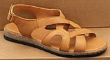 Шкіряні літні босоніжки на низькому ходу від виробника модель ЛС2102-1, фото 3