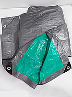 Тент з кільцями 4х5м 100g/m2. Двосторонній., фото 1
