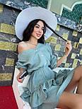 Легке плаття на літо з подвійною спідницею і рукавами-ліхтариками (р. S-L) 71032510, фото 2