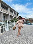 Легке плаття на літо з подвійною спідницею і рукавами-ліхтариками (р. S-L) 71032510, фото 3