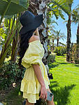 Легке плаття на літо з подвійною спідницею і рукавами-ліхтариками (р. S-L) 71032510, фото 4