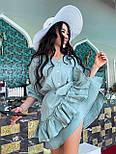 Легке плаття на літо з подвійною спідницею і рукавами-ліхтариками (р. S-L) 71032510, фото 5