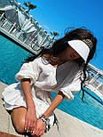 Легке плаття на літо з подвійною спідницею і рукавами-ліхтариками (р. S-L) 71032510, фото 6