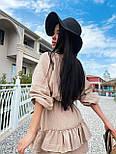 Легке плаття на літо з подвійною спідницею і рукавами-ліхтариками (р. S-L) 71032510, фото 7