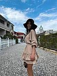 Легке плаття на літо з подвійною спідницею і рукавами-ліхтариками (р. S-L) 71032510, фото 8