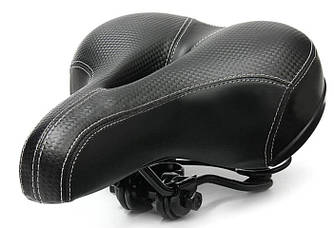 Велосипедне сідло комфортне з амортизаторами I-Bike Black