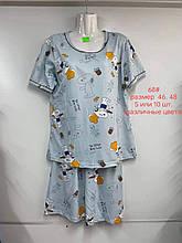 Пижама ночнушка рубашка + шортики женские Снупи размер 46 48