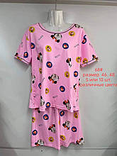 Пижама ночнушка рубашка + шортики женские Микки размер 46 48