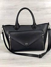 Качественная молодежная сумка с ремешком Aliri-545-24 черная