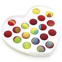 Игрушка антистресс для детей и взрослых Сердце Pop It Силиконовый Fidget Вечная сенсорная пупырка