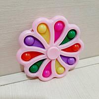 Игрушка антистресс Симпл димпл Цветок-Спиннер розовый
